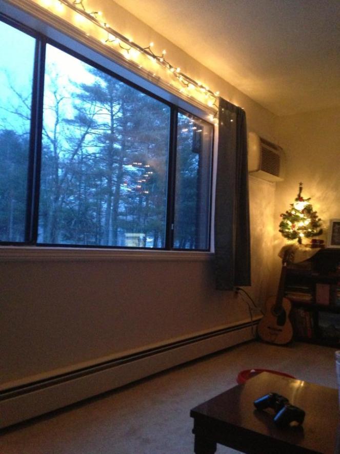 Twinkle lights & snow