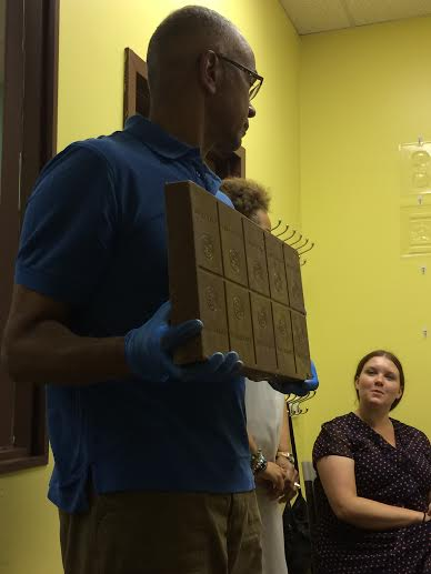 This brick of Belgian chocolate is approximately 25,000 calories.... Yum.